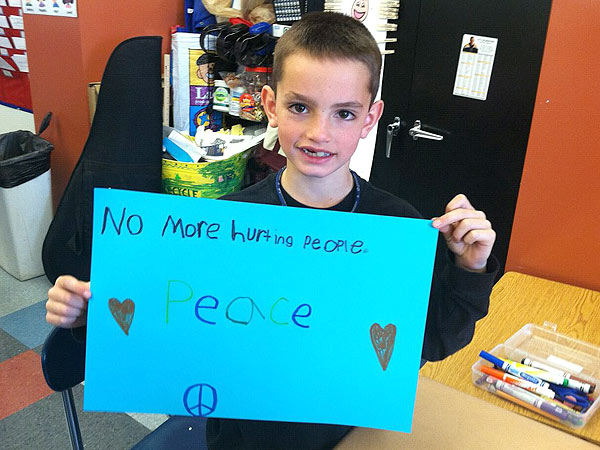 Martin Richard, Peace, Boston, OM by Miquette, Miquette Bishop, Saunderstown, Rhode Island