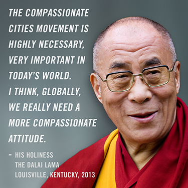 kindness, compassion, compassionate cities, Dalai Lama, Charter for Compassion International, OM, OM by Miquette, Miquette Bishop, Saunderstown, Rhode Island